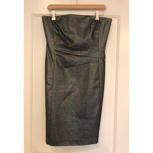 Ralph Lauren Metallic Strapless Evening Dress